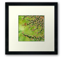 Mystical Green Trees in my Garden Framed Print