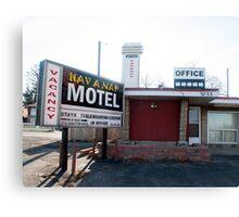 Hav A Nap Motel Canvas Print