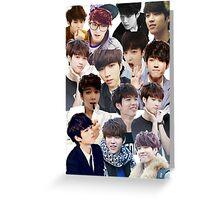 INFINITE - Nam Woohyun Collage - K-Pop Greeting Card