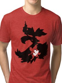 Fennekin - Braixen - Delphox ( Evolution Line ) Tri-blend T-Shirt