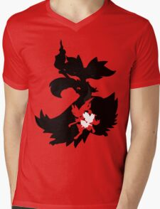 Fennekin - Braixen - Delphox ( Evolution Line ) Mens V-Neck T-Shirt