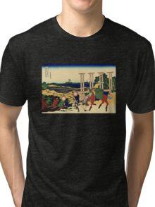 'Senju' by Katsushika Hokusai (Reproduction) Tri-blend T-Shirt