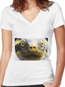 Turtle 1 Women's Fitted V-Neck T-Shirt