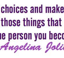 Angelina Jolie Sticker Sticker