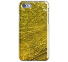 Water and sand, yellow iPhone Case/Skin