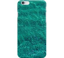 Water and sand, emerald iPhone Case/Skin