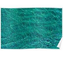 Water and sand, emerald Poster