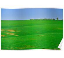 Empty landscape.  Poster