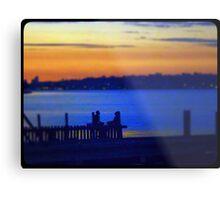 Yoga Sunset Metal Print