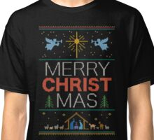 Ugly Christmas Sweater - Knit by Granny - Merry Christ Mas - Religious Christian Classic T-Shirt