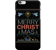 Ugly Christmas Sweater - Knit by Granny - Merry Christ Mas - Religious Christian iPhone Case/Skin
