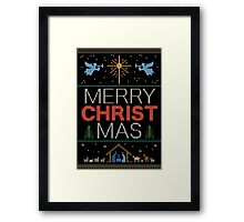 Ugly Christmas Sweater - Knit by Granny - Merry Christ Mas - Religious Christian Framed Print