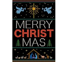 Ugly Christmas Sweater - Knit by Granny - Merry Christ Mas - Religious Christian Photographic Print