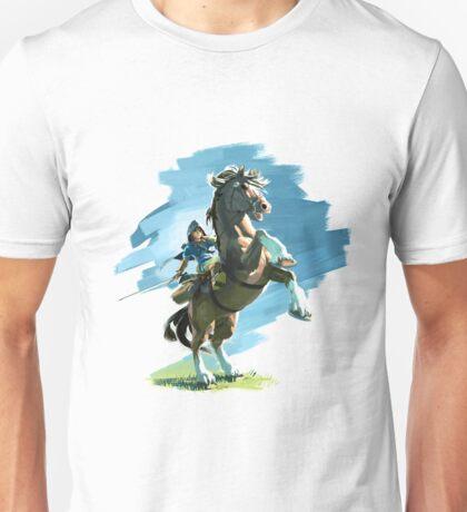 Zelda Breath of the Wild Link on Epona Unisex T-Shirt