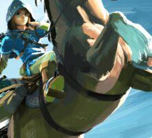 Zelda Breath of the Wild Link on Epona Sticker