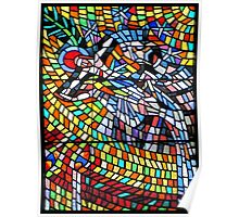 Stained Glass Window SS Vitus Cathedral Prague Poster