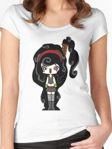 Smoky Happy by Lolita Tequila Women's Fitted Scoop T-Shirt