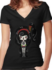 Smoky Happy by Lolita Tequila Women's Fitted V-Neck T-Shirt