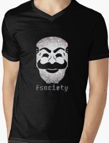 Mr Fsociety Mens V-Neck T-Shirt