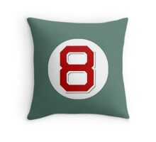 #8 Retired Throw Pillow