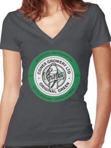 Cones Orginal Green Women's Fitted V-Neck T-Shirt