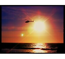 Helicopter Semi-Photobomb Photographic Print