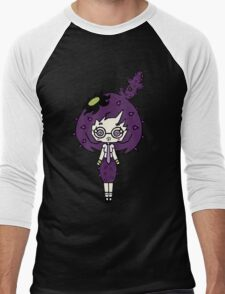 Lilac Cacto by Lolita Tequila  Men's Baseball ¾ T-Shirt