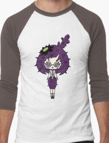 Lilac Cacto by Lolita Tequila  Men's Baseball ¾ T-Shirt