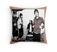 The New Black Throw Pillow