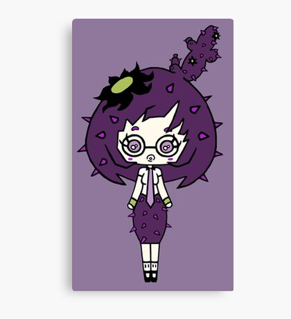 Lilac Cacto by Lolita Tequila  Canvas Print