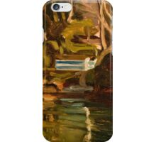 Original Contemporary Oil Painting Fishcombe Bay iPhone Case/Skin