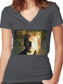 Stalker Movie Poster Women's Fitted V-Neck T-Shirt