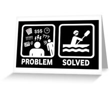 Funny Rafting Problem Solved Greeting Card