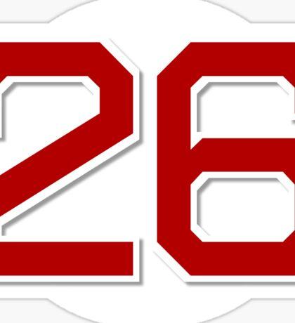 #26 Retired Sticker