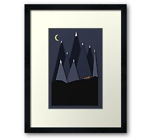 Fox and Mountains Framed Print