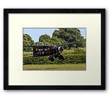 Westland Lysander IIIa V9367 G-AZWT in over the hedge Framed Print
