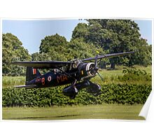 Westland Lysander IIIa V9367 G-AZWT in over the hedge Poster