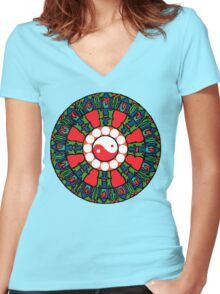 The Wheel of Truth Women's Fitted V-Neck T-Shirt