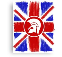 Trojan Union Jack  Canvas Print