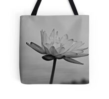 Peaceful Lotus Flower (B & W) Tote Bag