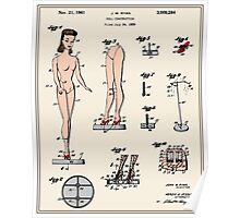Barbie Doll Patent Poster