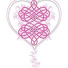 Valentine's Day Heart greeting card by Zehda
