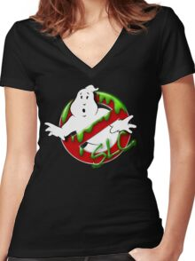 The Ghostbusters of Salt Lake Logo 2 Women's Fitted V-Neck T-Shirt