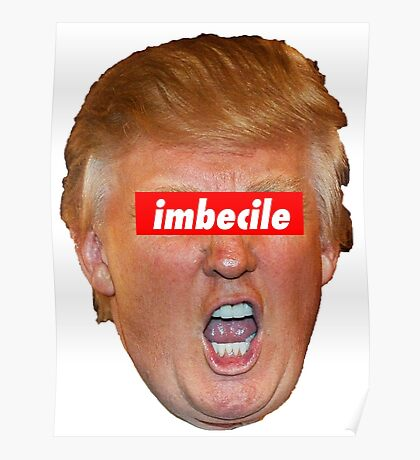 Trump Imbecile Poster