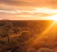 Sunrise at Ayers Rock   Uluru Sticker