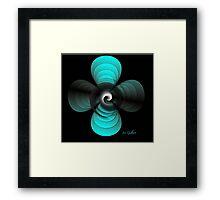 Aqua Clover Framed Print