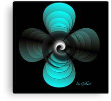 Aqua Clover Canvas Print