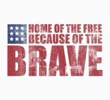 Awesome Memorial Day 'Home of the Free Because of the Brave' Tee by Albany Retro