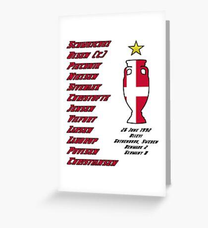 Denmark Euro 1992 Winners Greeting Card