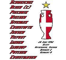 Denmark Euro 1992 Winners Photographic Print